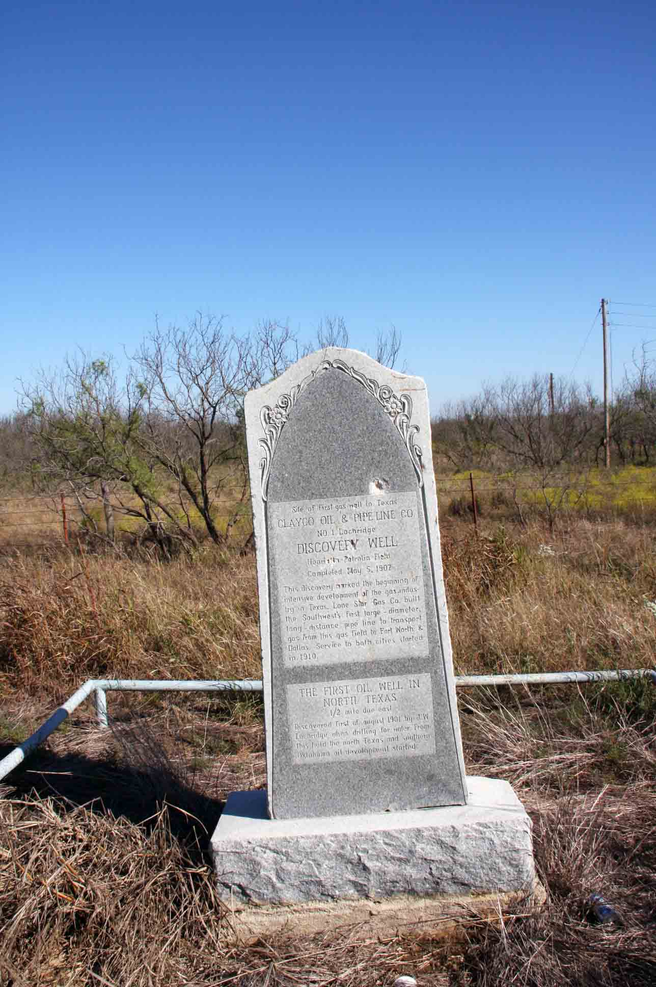 Site of First Gas Well in TX